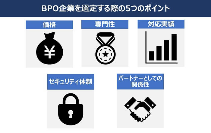 BPO企業を選定する際の5つのポイント